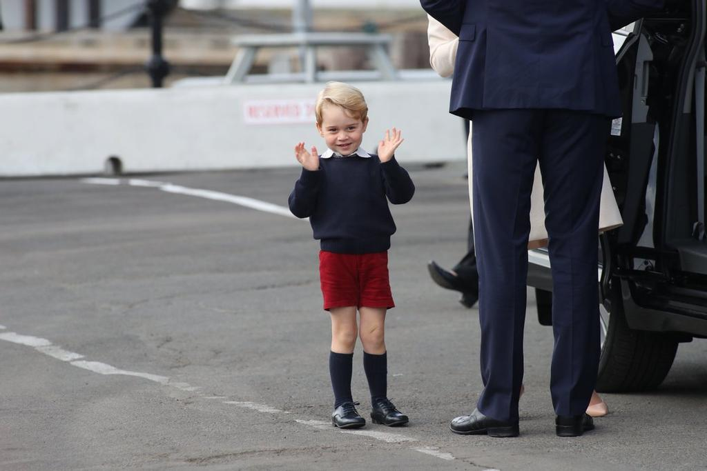 Le prince George, file du prince William et de son épouse, Kate Middleton