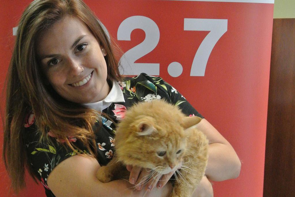 Catherine Bougie a adopté le chat Whisler.