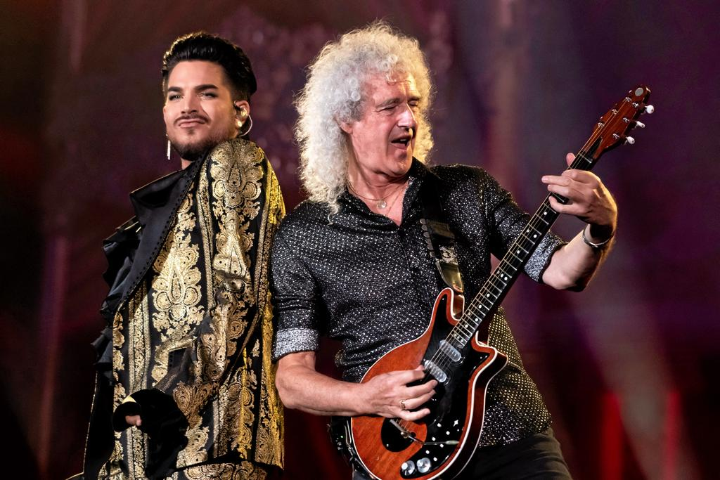 Adam Lambert et Brian May de Queen.