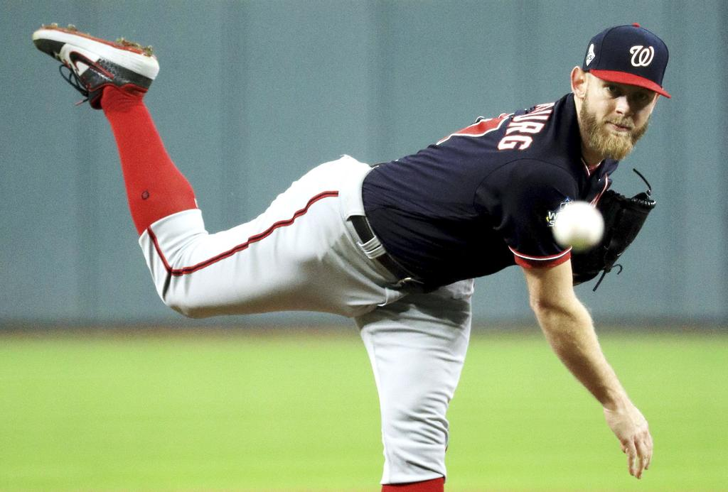 Le lanceur des Nationals de Washington Stephen Strasburg.
