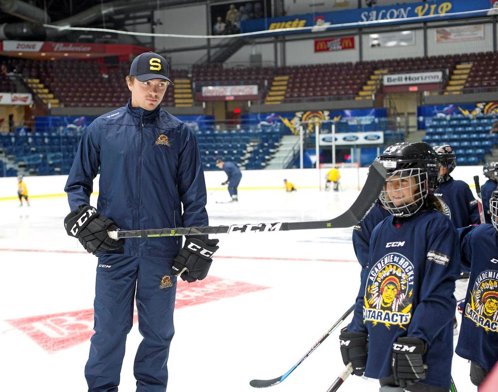 photo:sylvain mayer   Samuel Girard au camp des mini-cats