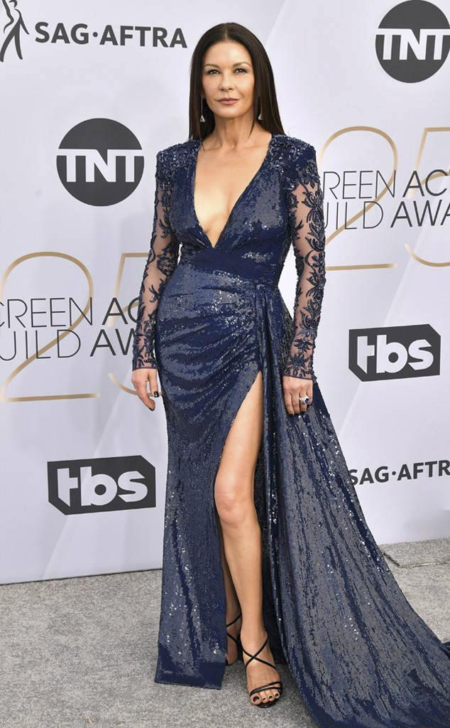 Catherine Zeta-Jones aux Screen Actors Guild Awards, dans une création de Zuhair Murad
