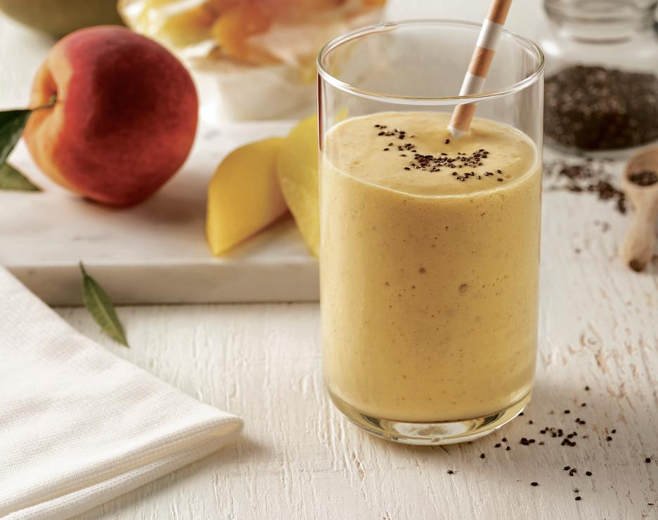 Smoothies pêches et mangues