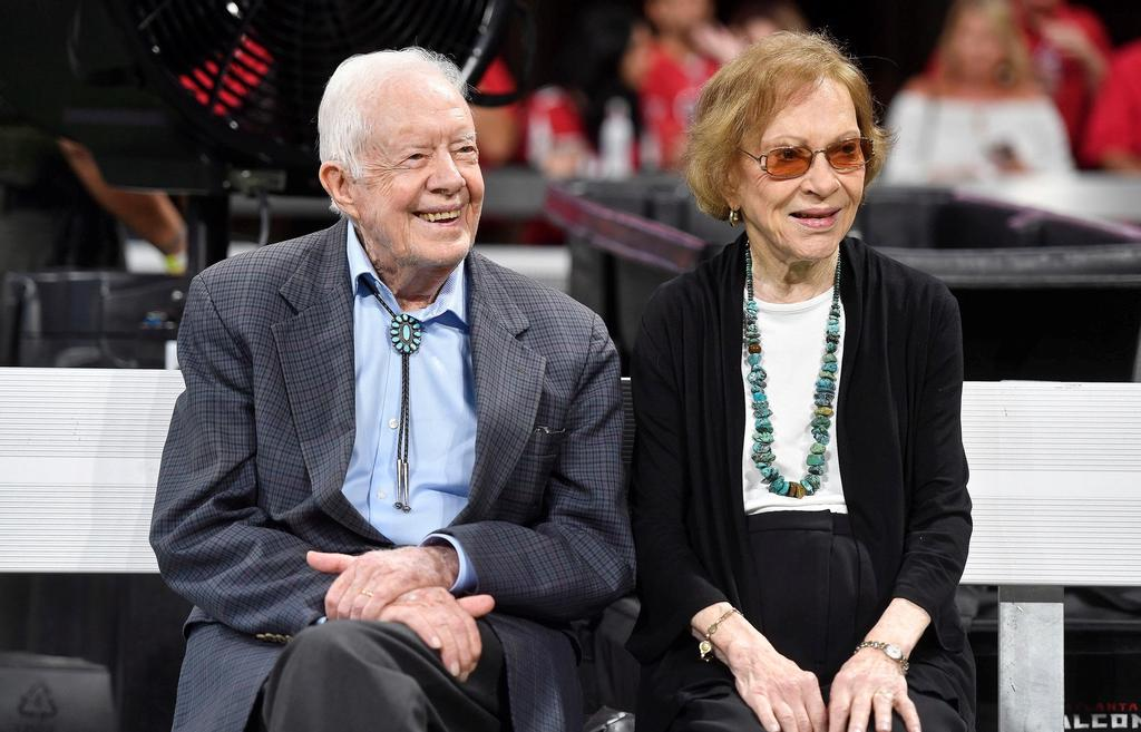 Jimmy Carter et Rosalynn Carter à Atlanta, en septembre 2018