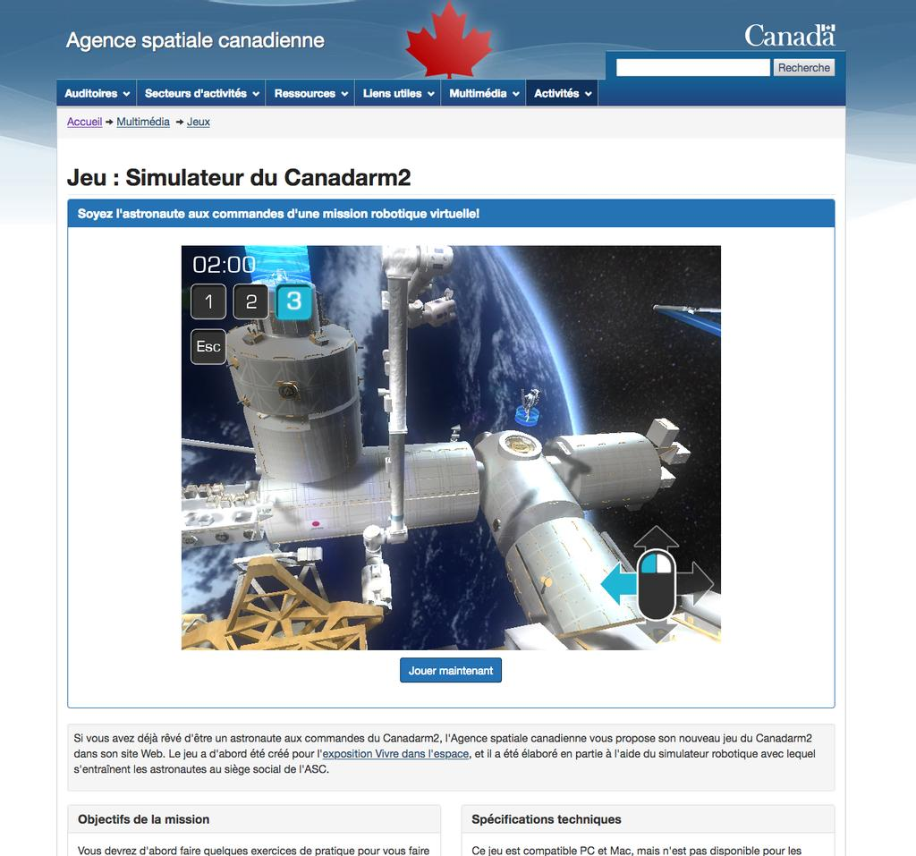 L'Agence spatiale canadienne