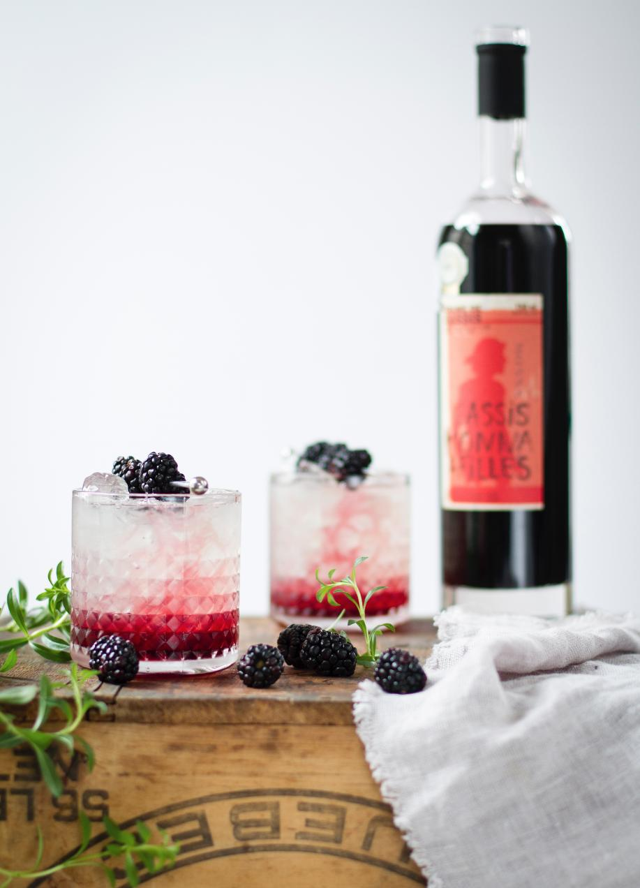 <em>Bramble</em> au cassis à la Monsieur Cocktail