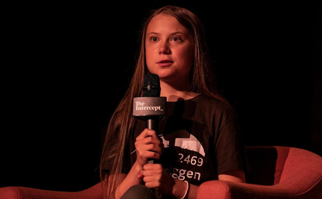 Greta Thunberg à New York, lundi