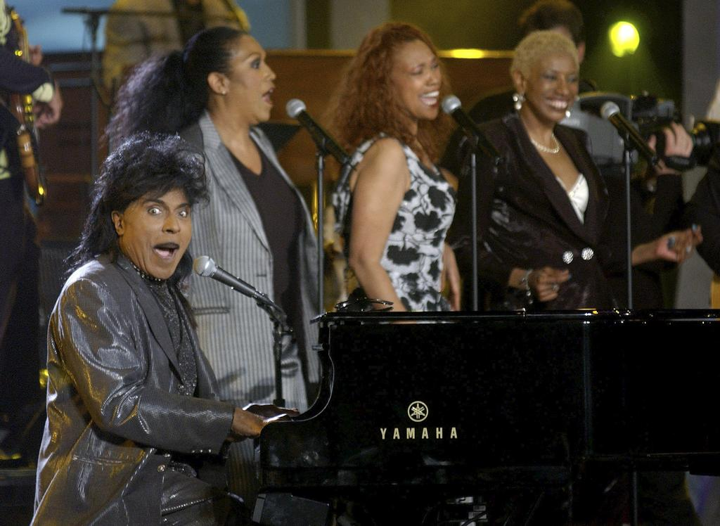 Little Richard performe <em>Good Golly Miss Molly</em> avec les Pointer Sisters, en Californie.