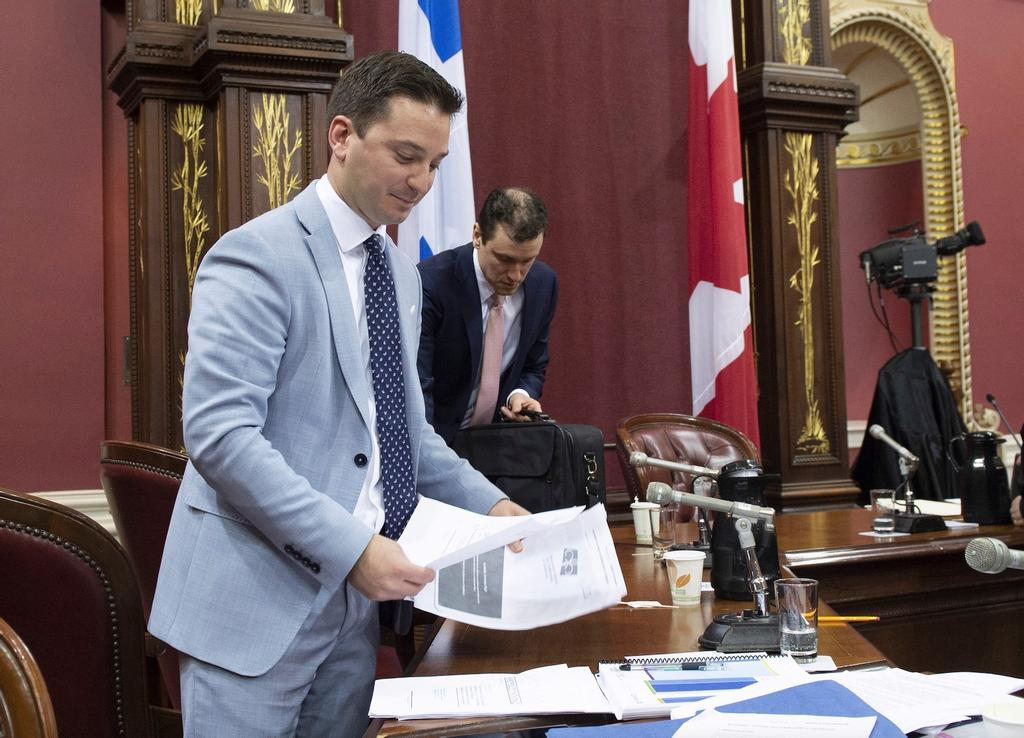 Le leader parlementaire du gouvernement caquiste, Simon Jolin-Barrette