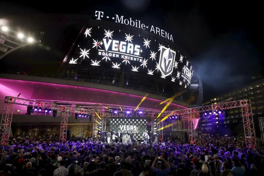 Le T-Mobile Arena, domicile des Golden Knights de Vegas.