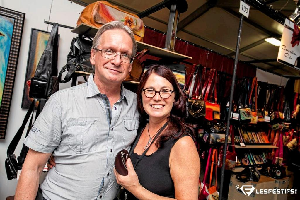 Gilles Bergeron et Danielle Tremblay, de la boutique Conception Cuir