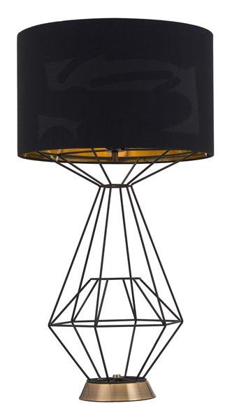 Contemporain Lampe de table Delancey, noir - Rona