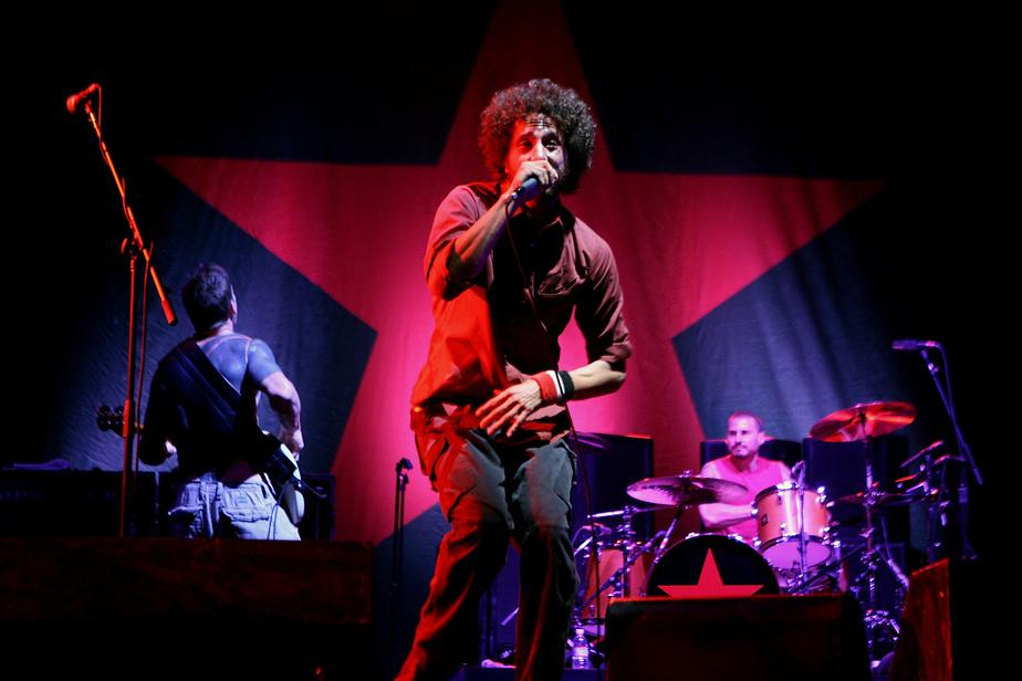 Le groupe Rage Against the Machine lors de sa prestation au festival Coachella en 2007.