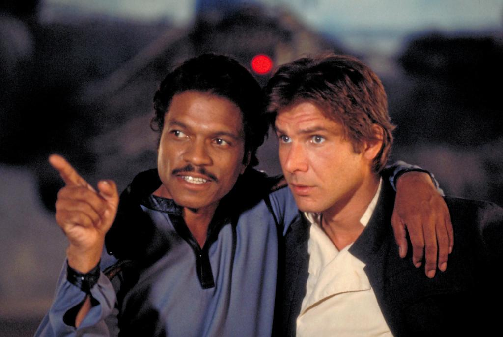 Lando Calrissian (Billy Dee Williams) et Han Solo (Harrison Ford) dans «L'Empire contre-attaque».