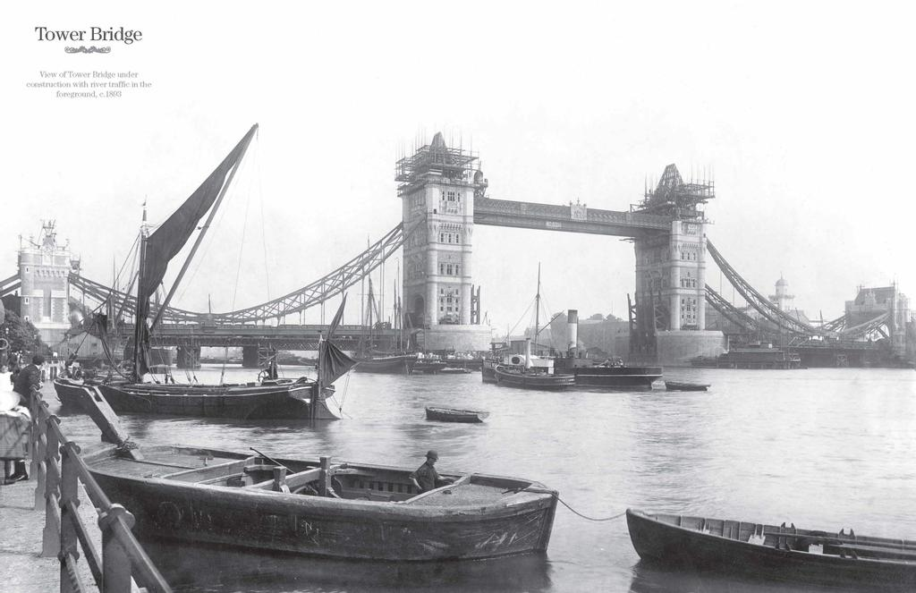 Le Tower Bridge en 1893