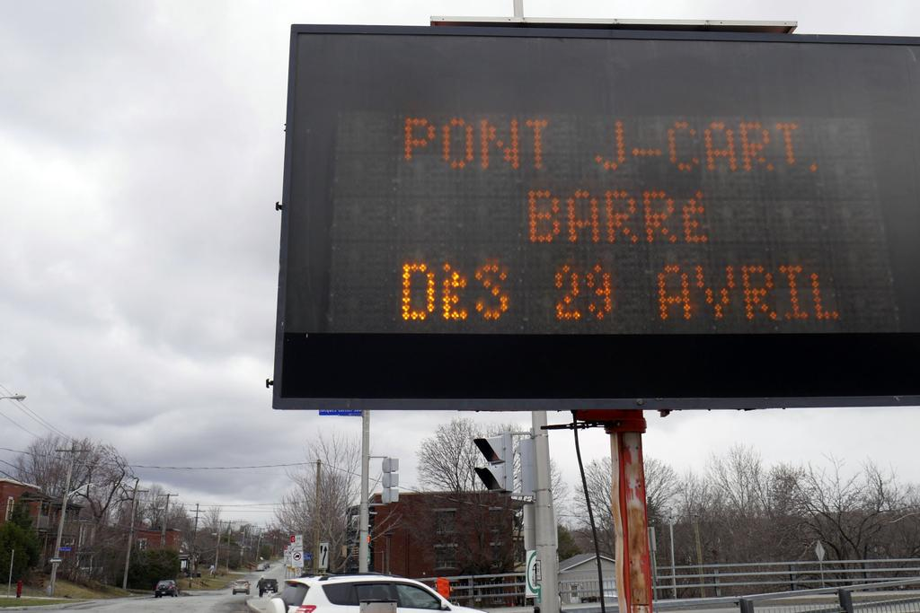 Le pont Jacques-Cartier sera fermé à la circulation automobile du 29 avril au 31 mai inclusivement pour des travaux majeurs.