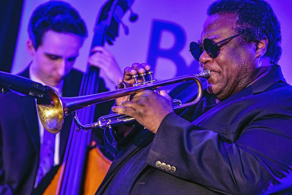 Le photographe Michel Tremblay a pu immortaliser le passage de Wallace Roney.