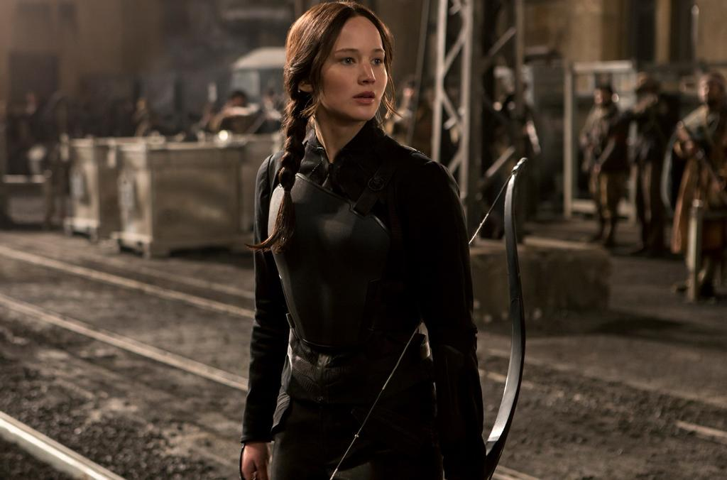 Jennifer Lawrence alias Katniss Everdeen, dans un film de la série «Hunger Games»