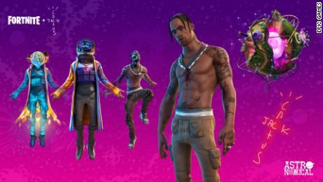 12,3 millions de joueurs de Fortnite ont regardé en direct le «concert» de Travis Scott.