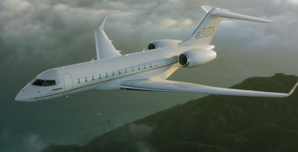 L'avion Global 6500 de Bombardier