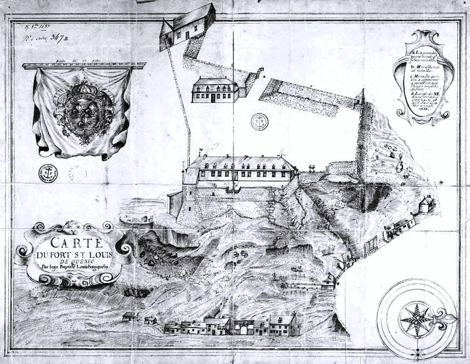 Carte du fort Saint-Louis par Franquelin
