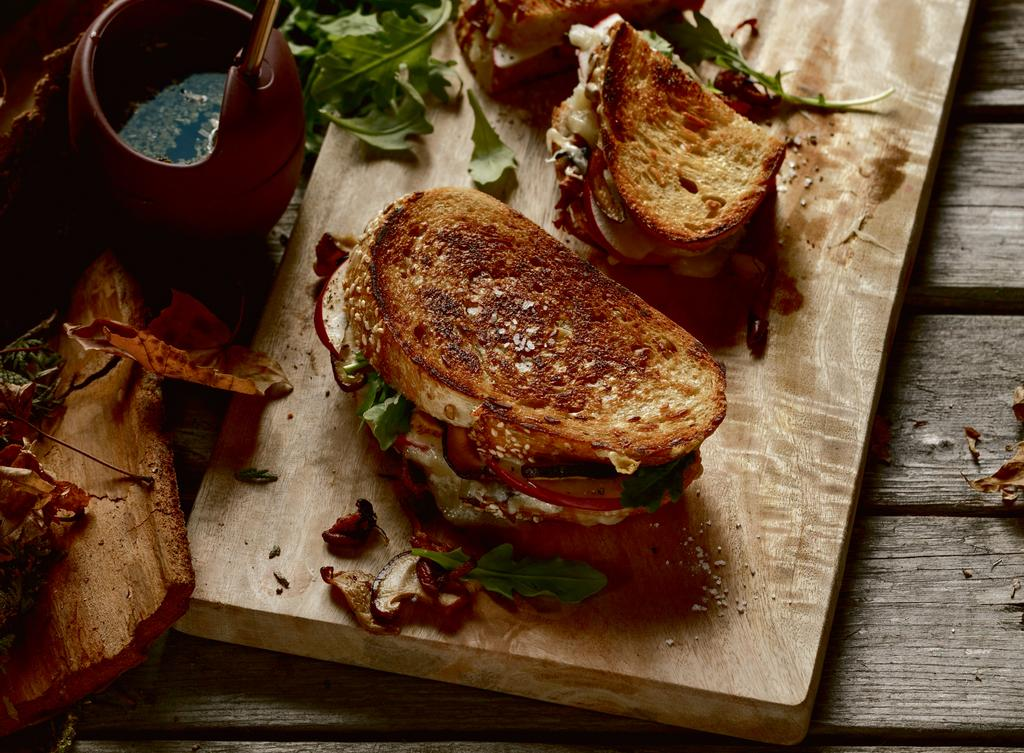 <em>Grilled cheese</em> de la forêt