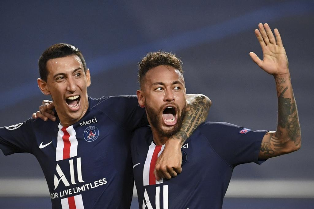 Angel Di Maria et Neymar, du Paris Saint-Germain