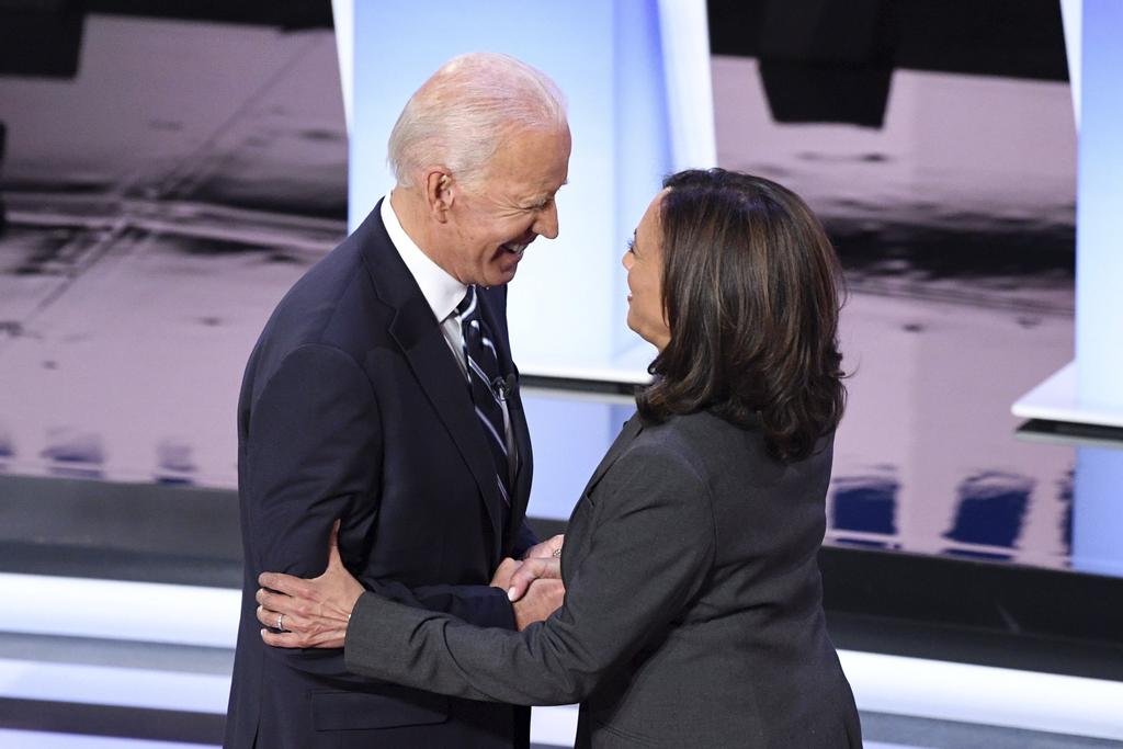 Joe Biden et Kamala Harris en avril 2019
