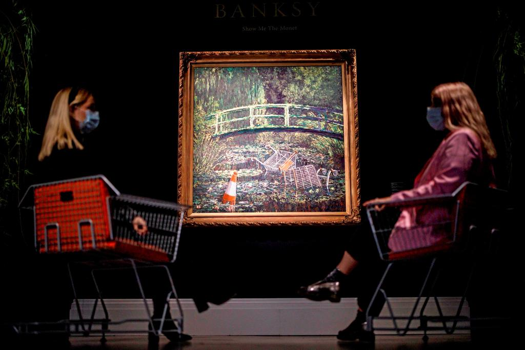 Le tableau de Banksy parodiant Monet adjugé à 13 M$