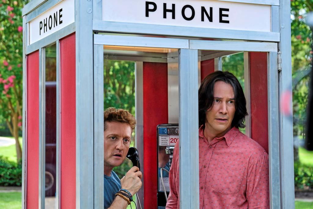<em>Bill et Ted Face the Music</em> avec Alex Winter et Keanu Reeves.