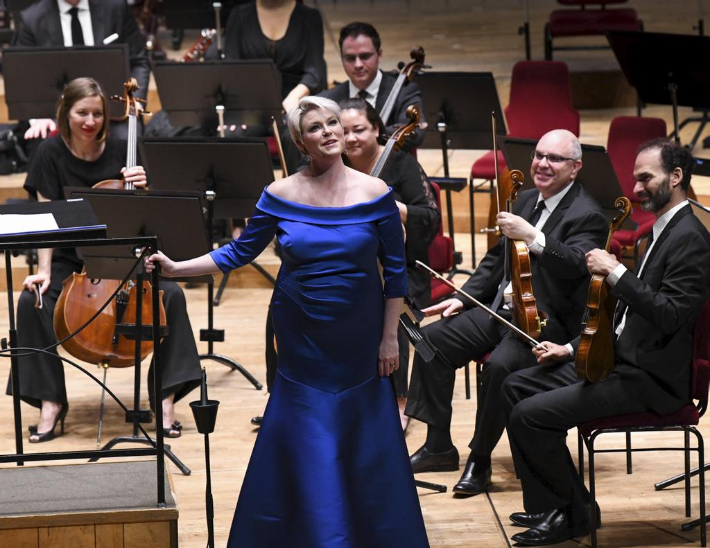 Classical music fans are remembering Canadian soprano Erin Wall as a virtuosic talent whose voice was taken away too soon. Erin Wall is seen during a performance in an undated handout photo.