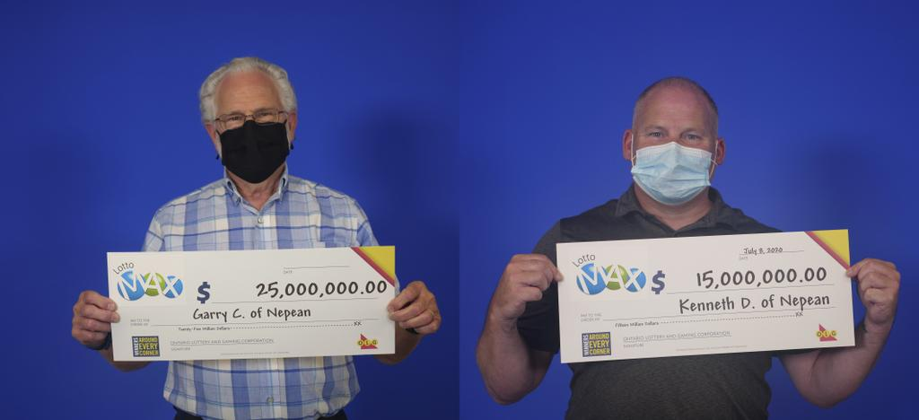 Garry Comber et Kenneth Donald ont gagné respectivement 25 millions $ et 15 millions $ au Lotto Max