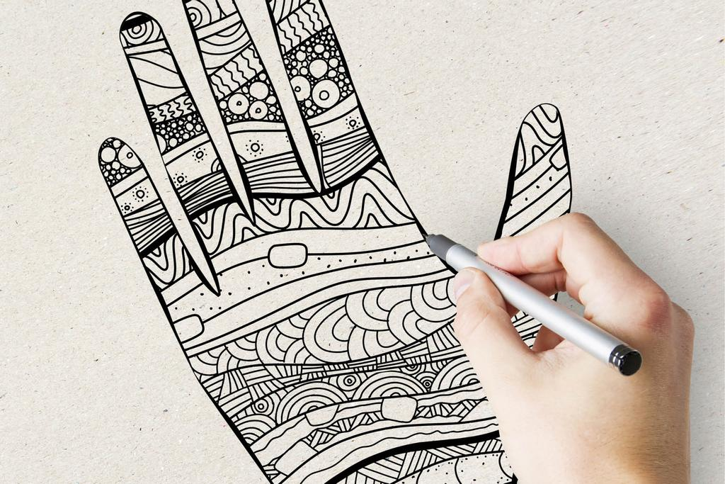 Un exemple de «Zentangle Mano»