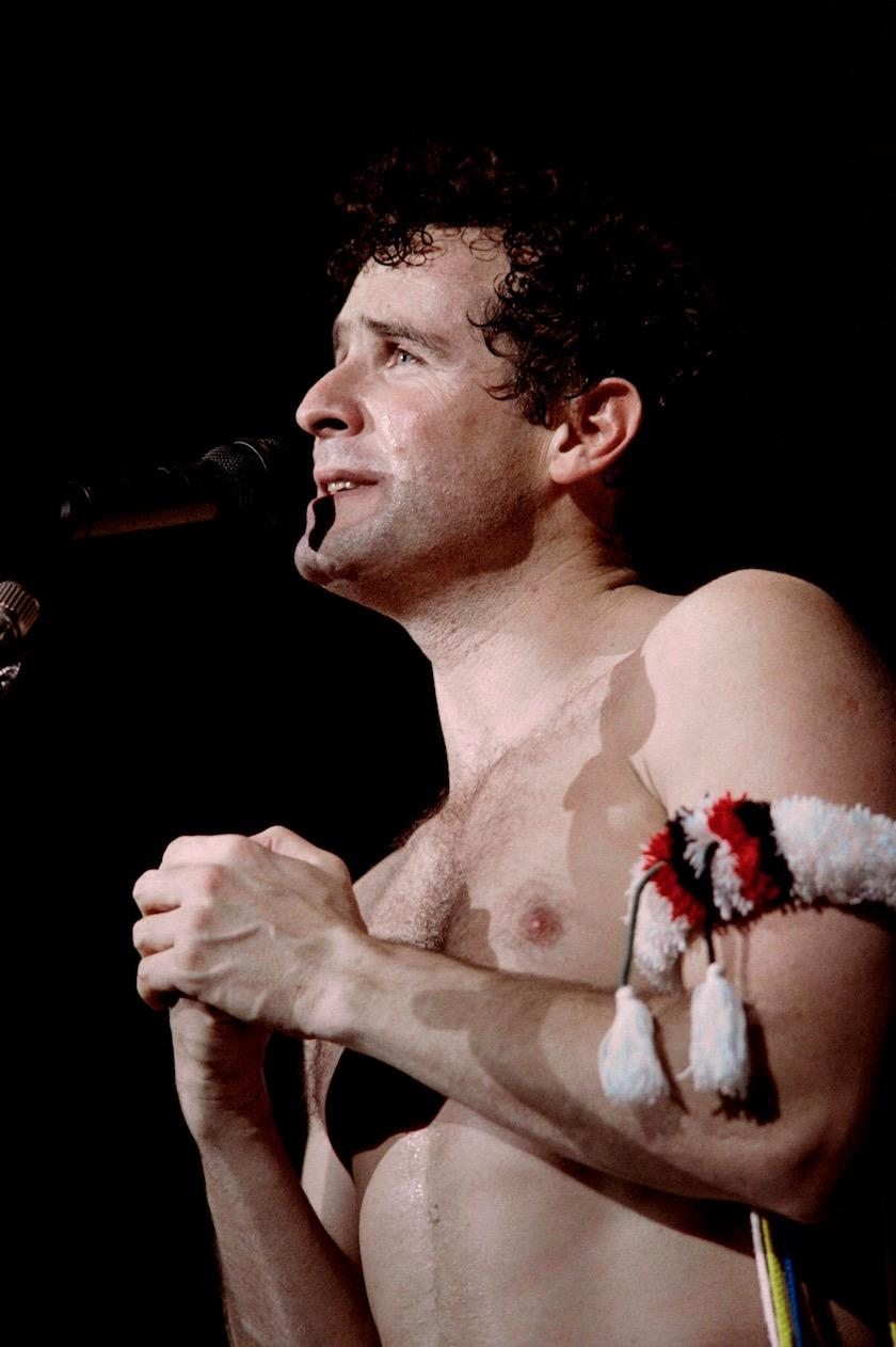 Johnny Clegg en spectacle en mai 1988