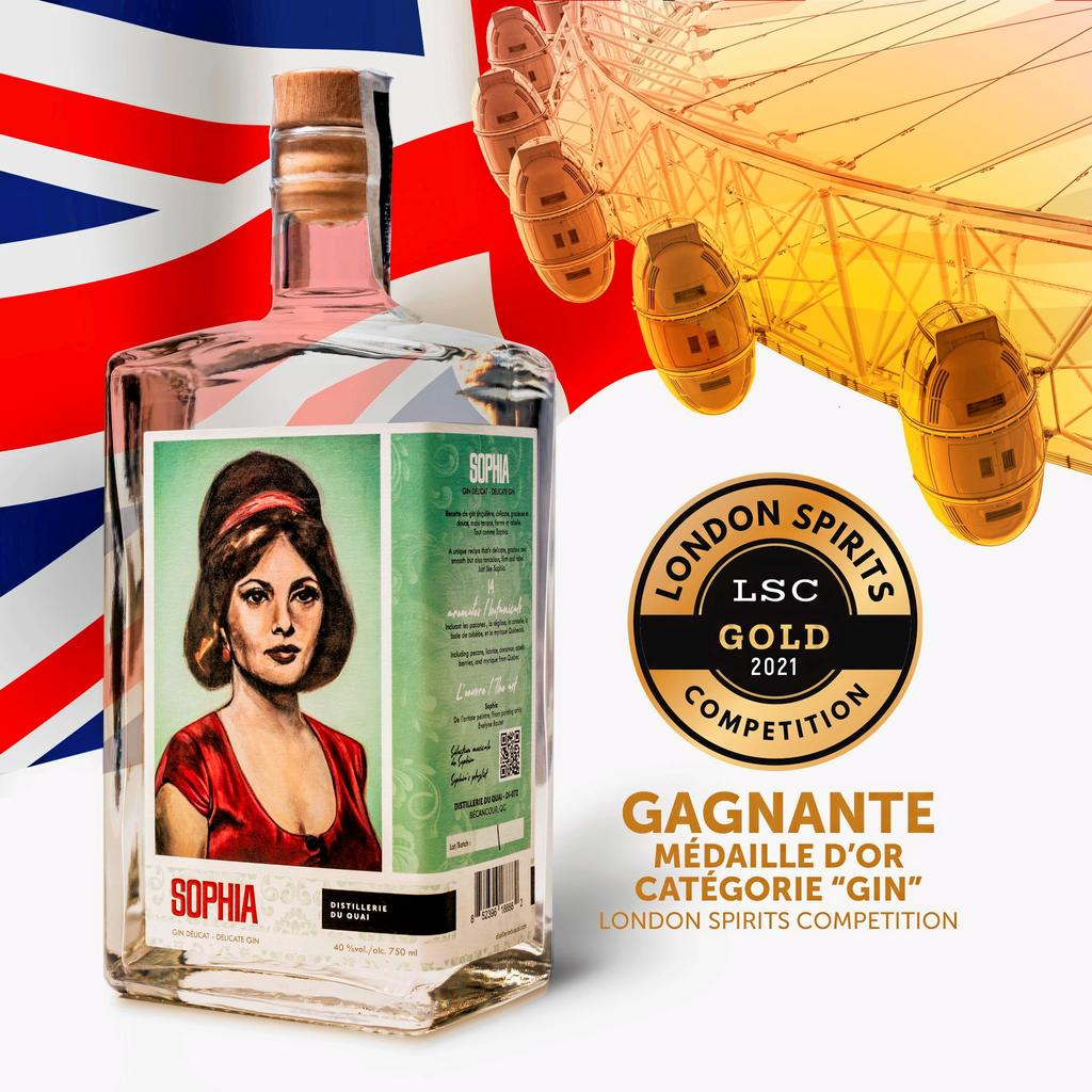 Médaille d'or pour la Distillerie du Quai au London Spirits Competition
