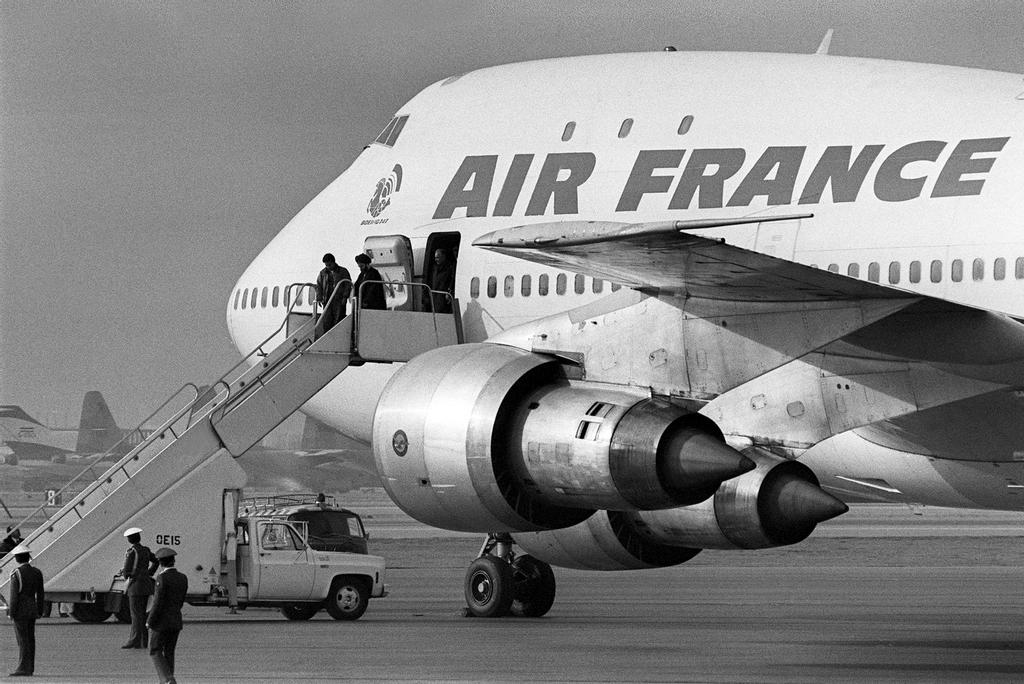 Cette photo d'archives prise en 1979 montre un Boeing 747 d'Air France.