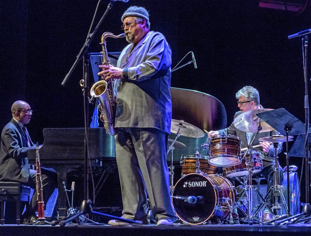 Le photographe André Ouellet a pu immortaliser le passage de Joe Lovano.