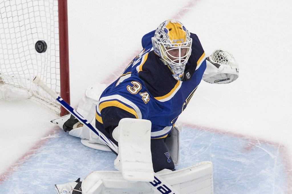 Le gardien des Blues de St. Louis Jake Allen