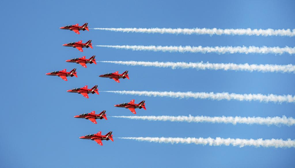 Les Red Arrows en action.