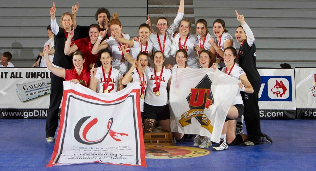 Ma vie en Rouge et Or - volleyball féminin: championnes canadiennes 2006