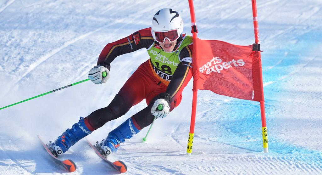 Louis Fleurance, du club de ski alpin Rouge et Or