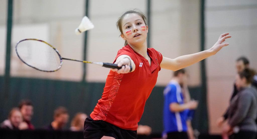 Béatrice Guay, du club de Badminton Rouge et Or.
