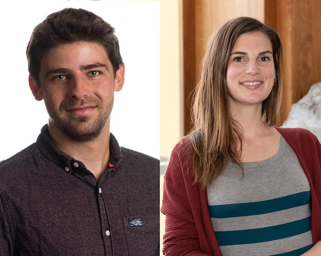Crystal LaFlamme, prix SGA-Young Scientist Award, et Bernard Rottier, Best Paper Award