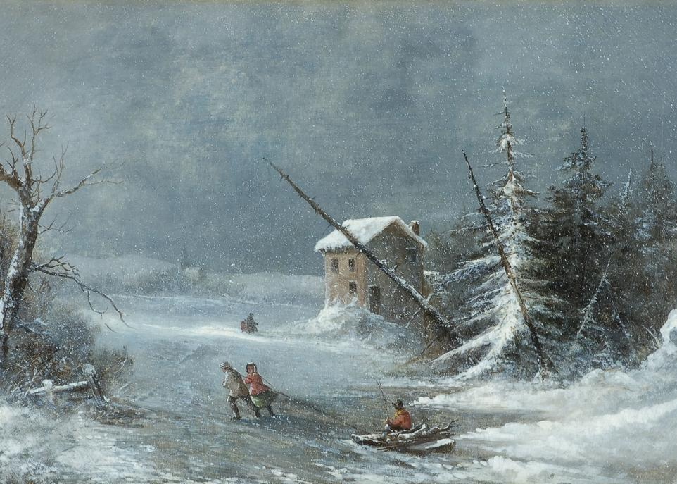 <i>The blizzard</i>, de Cornelius Krieghoff