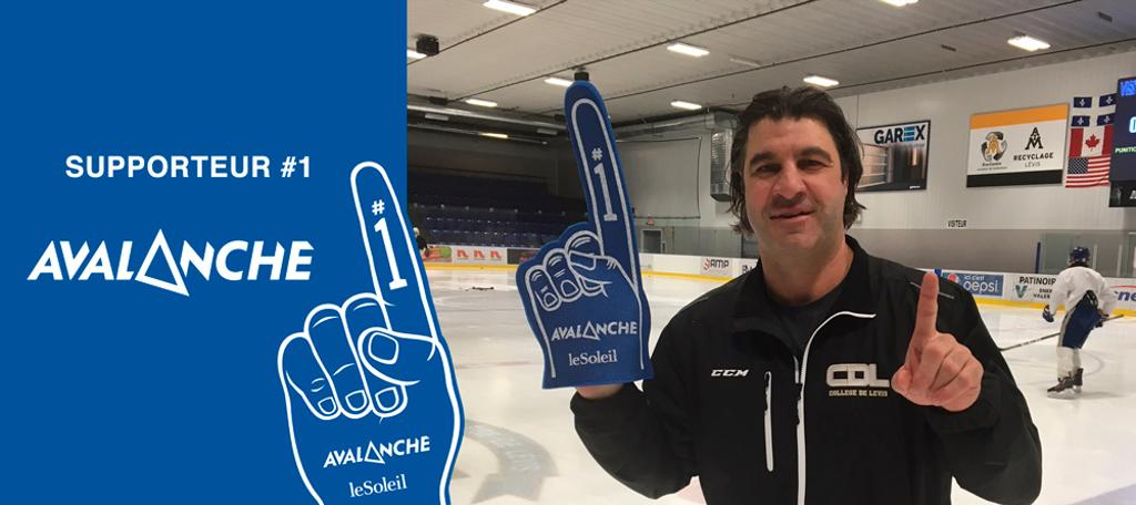 Le supporteur #1 Avalanche : Claude Boivin