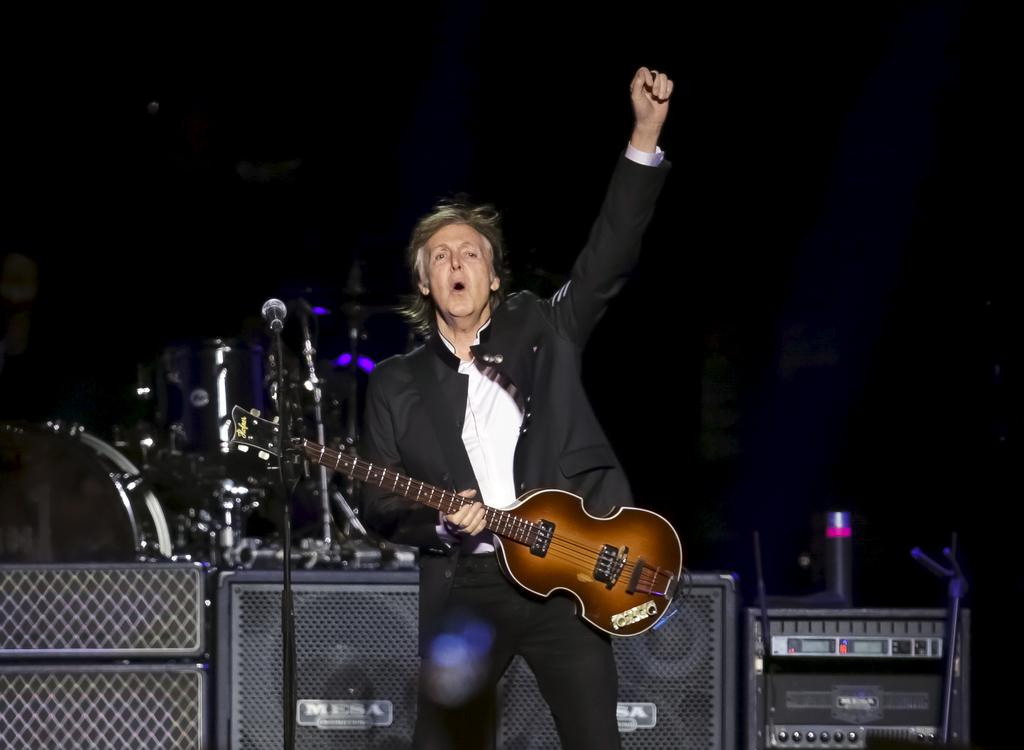 Paul McCartney en spectacle à Newark, au New Jersey, en septembre 2017
