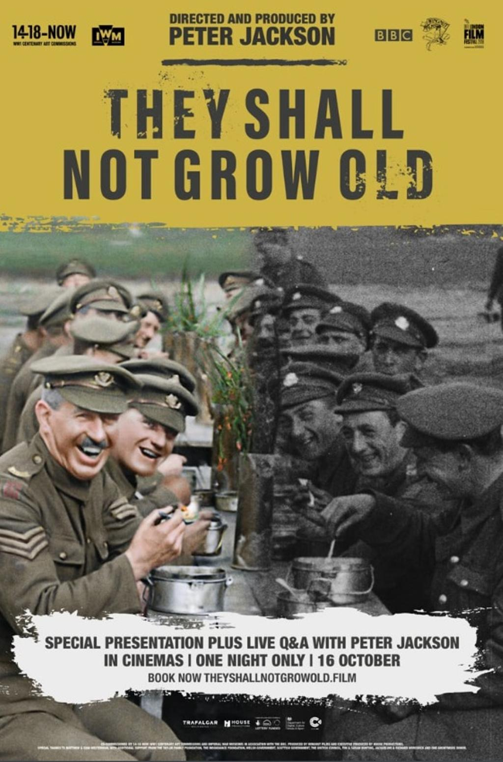 Affiche du documentaire «They Shall Not Grow Old» de Peter Jackson