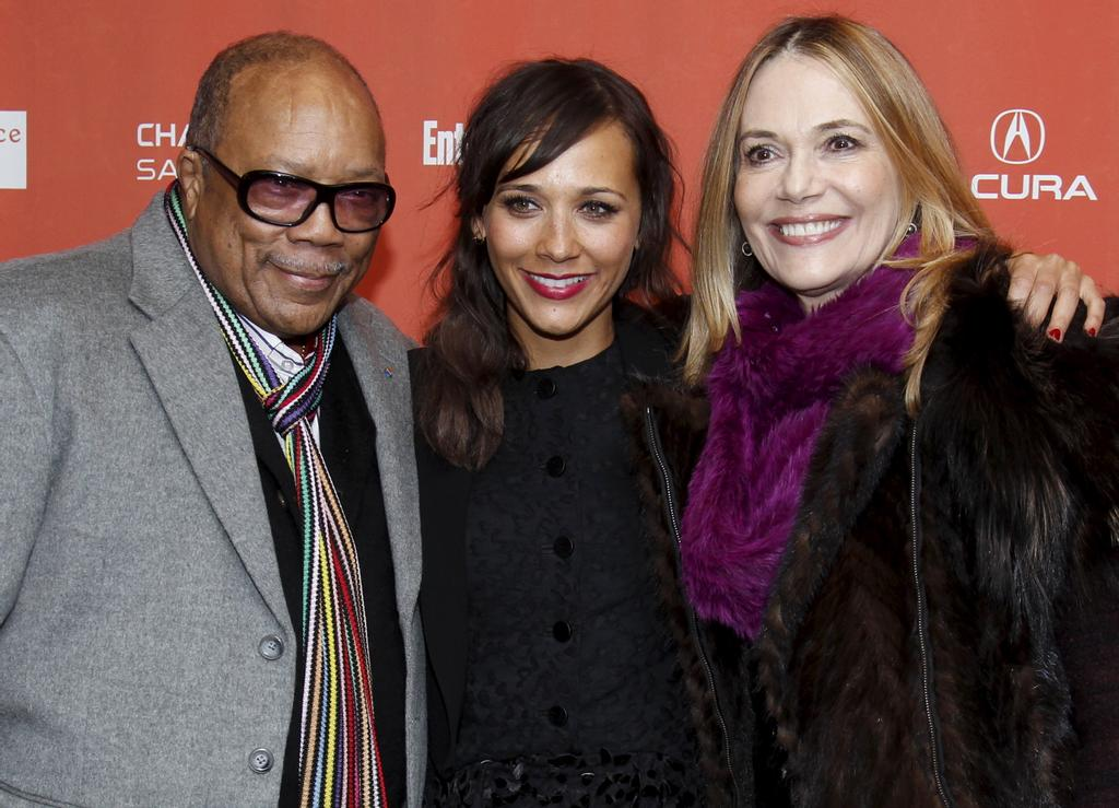Peggy Lipton avec sa fille, l'actrice Rashida Jones, et son ex-mari, Quincy Jones