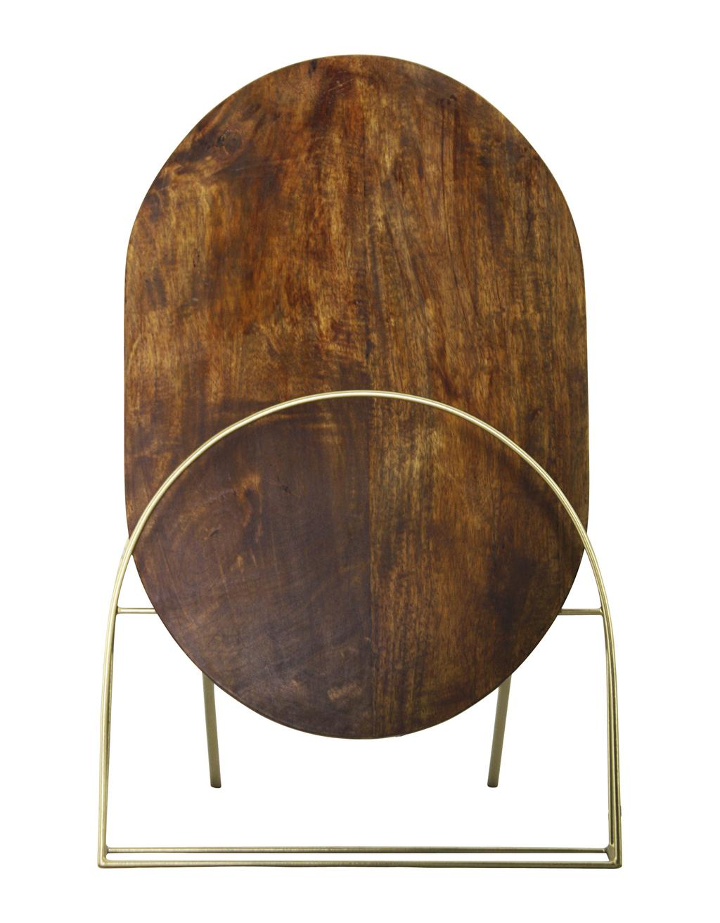 Lampe de table Pelly, en laiton et bois naturel de manguier, 269,99 $ chez La Baie