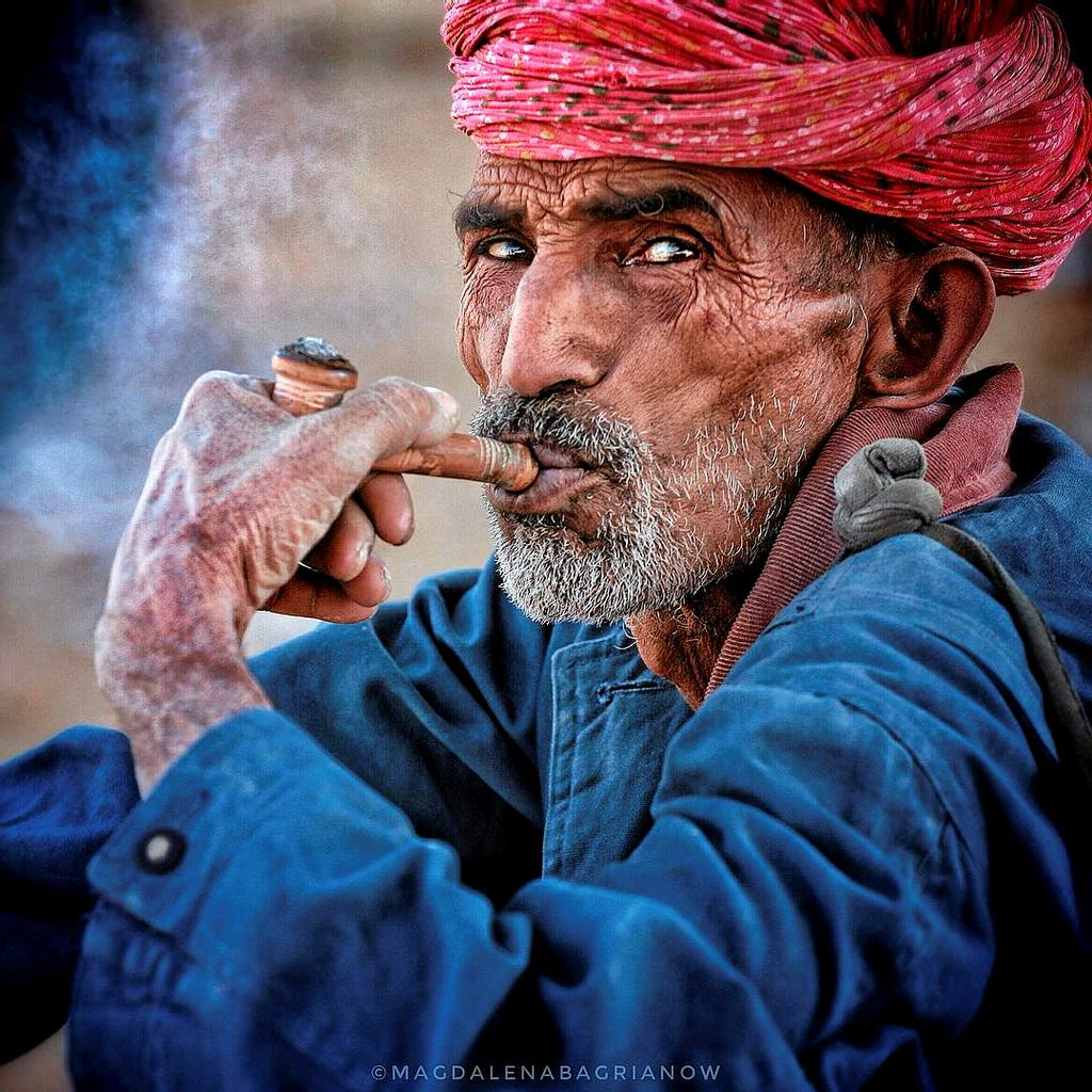Photo d'un vieux berger du Rajasthan.
